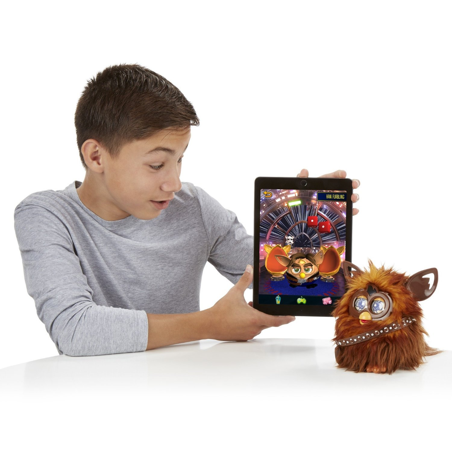 Image 3 of Star Wars Furby Furbacca Interactive Creature, Hasbro, 6+