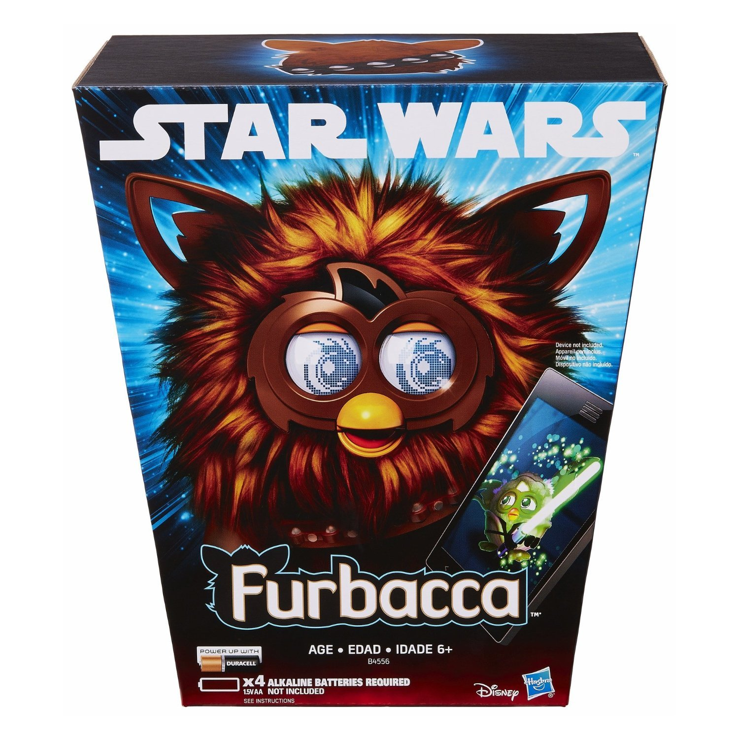 Image 2 of Star Wars Furby Furbacca Interactive Creature, Hasbro, 6+