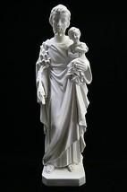 Saint St Joseph with Baby Jesus Catholic Statue Figure Sculpture Vittoria Italy - $139.95