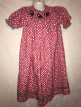 Southern Tots Boutique Pink Polka Dot Smocked EASTER BUNNY RABBIT Bishop... - $36.00