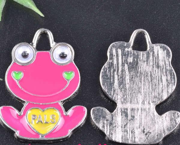 Tibet Silver Enamel Frog Charms