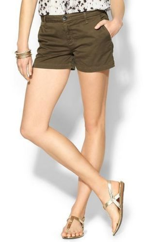 Primary image for Joie Traveller Bermuda 0050-JC2006 Womens Fatigue Green Flat Front Shorts 31 10
