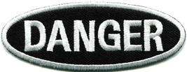 Danger sign signal warning caution alert applique iron-on badge patch new S-790 - $2.95