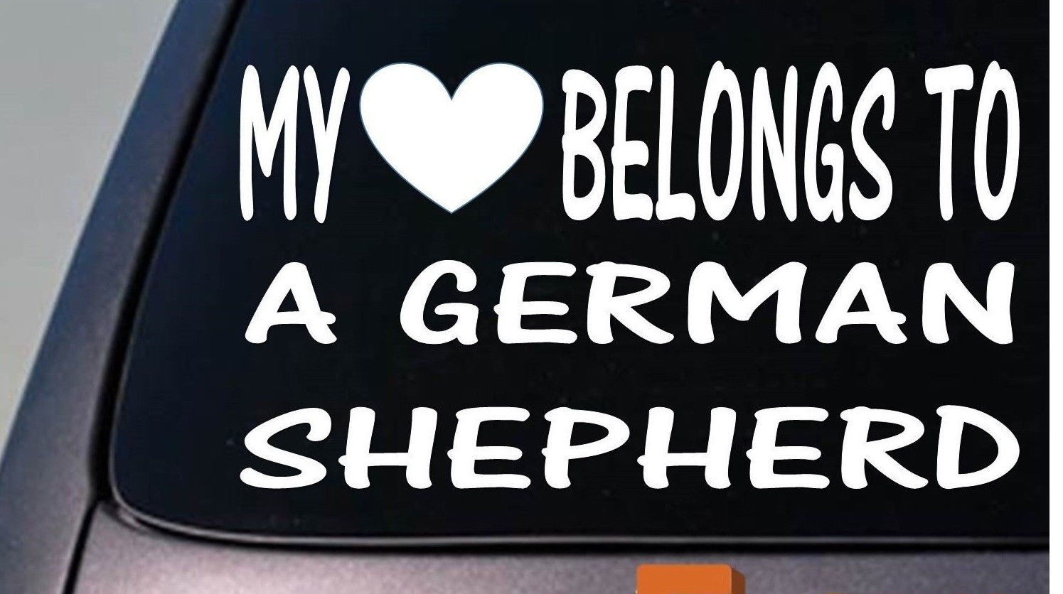 Primary image for My heart belongs to a German Shepherd sticker decal *D981*