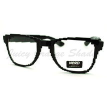 Pixel Pixelated Eyeglasses Clear Lens Digital Image Glasses Black UV 400 - $8.86
