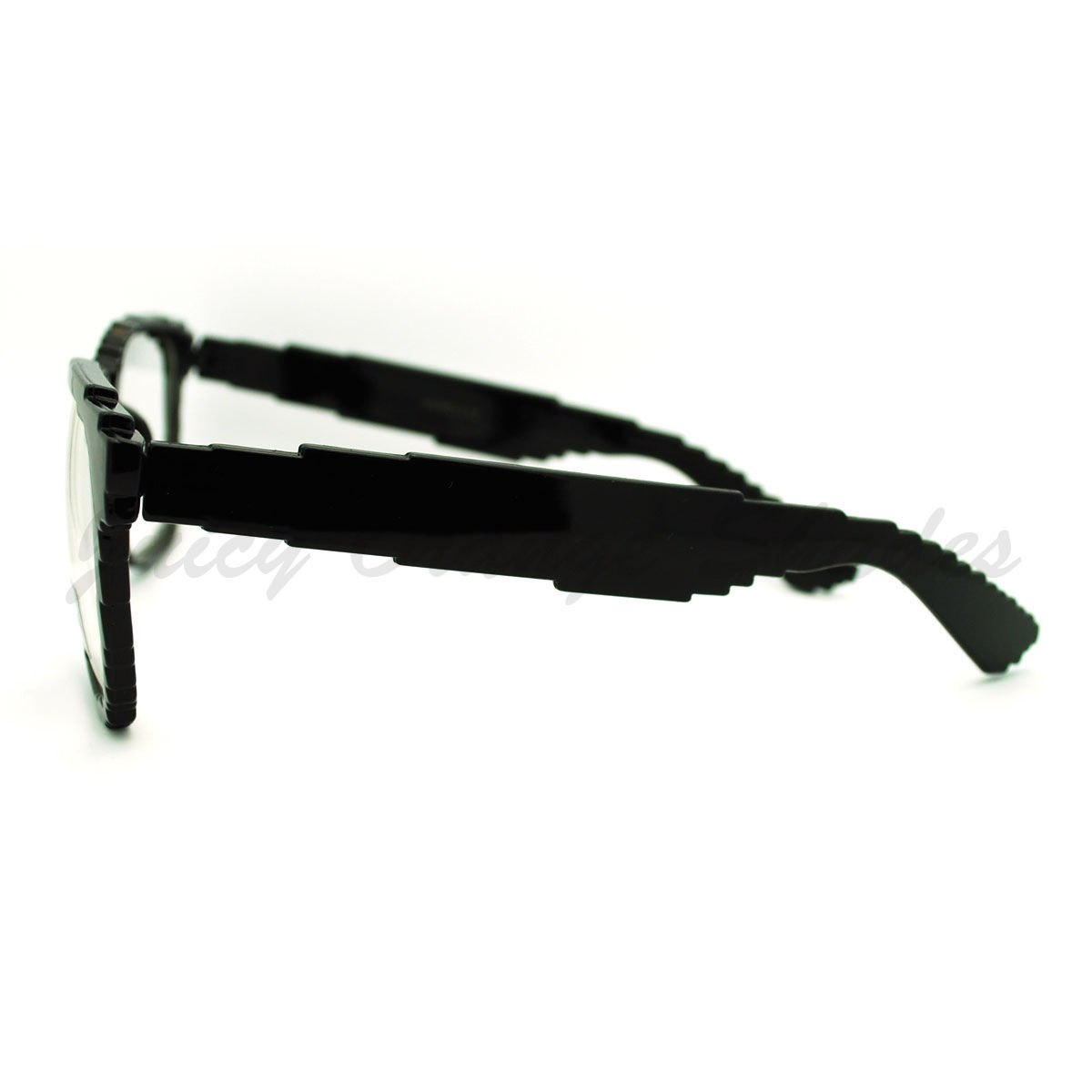 Pixel Pixelated Eyeglasses Clear Lens Digital Image Glasses Black UV 400