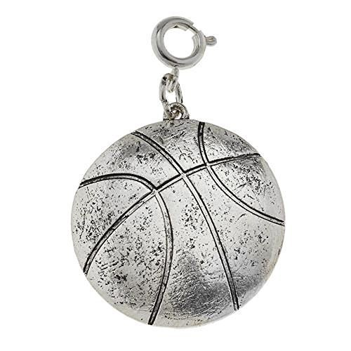 Jane Marie Silver Tone Basketball Charm [Jewelry]