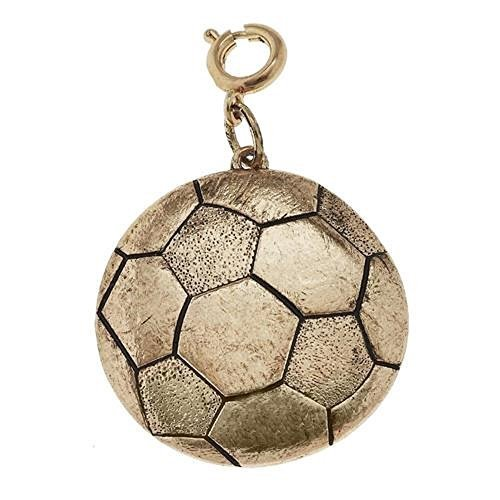 Jane Marie Gold Tone Soccer Ball Charm [Jewelry]