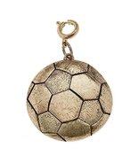 Jane Marie Gold Tone Soccer Ball Charm [Jewelry] - $10.39