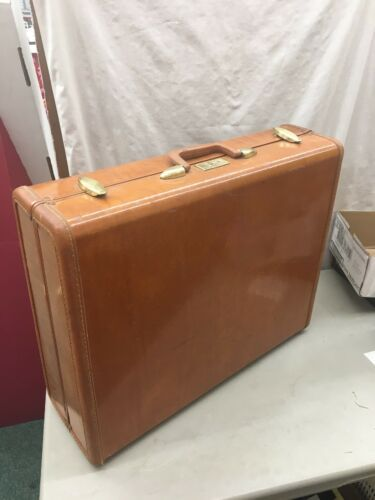 Vintage Samsonite Streamliner Luggage Suitcase Brown Large Size Shwayder Bros