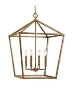 Visual Comfort Darlana Style Cage Pendant Chandelier Lantern Silver Gold... - $279.00
