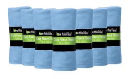 12 Pack Soft Warm Fleece Blanket or Throw Blanket - 50 x 60 Inch Light Blue - $73.43 CAD