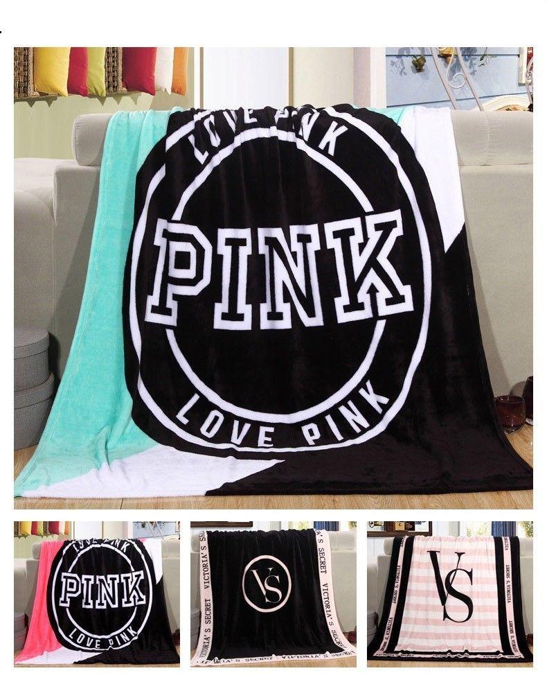 1fe3f0c22b S l1600. S l1600. Victoria s Secret Love Pink Super Soft Plush Throw Manta  Fleece Blanket 8 Colors