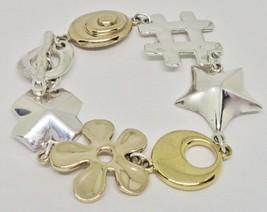 New Robert Lee Morris RLM Studio Sterling Brass Cross Star Link Toggle B... - $69.00