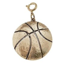 Jane Marie Gold Tone Basketball Charm [Jewelry]