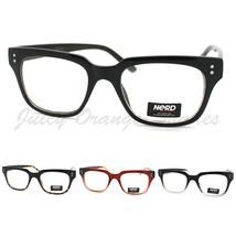 Unisex Nerd Eyeglasses Chic Horn Rimmed Clear Lens Frames (4 Colors) - $7.95