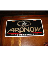 ARONOW POWERBOATS LICENSE PLATE - $20.00