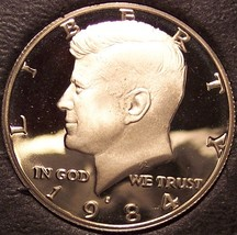 1984-S DCAM Clad Proof Kennedy Half Dollar #0391 - $5.99