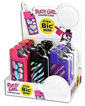PARTY GIRL MINI LIGHTER CASE - ONE CASE WITH RANDOM DESIGN AND COLOR