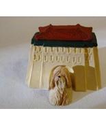 Sandicast Barkitecture Lhasa Apso & Tibetan Temple Dog House Statue Made... - $22.98