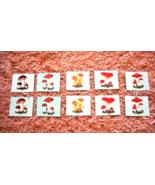 Vintage Soviet USSR Toddler Mushrooms Game Toy Tiles Educational Childre... - $20.00