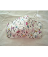 Handmade Face Mask Cotton 3 Layer Non Woven Interfacing Washable Adult  ... - $10.99