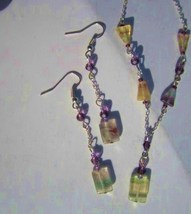 Flourite and Sterling silver necklace and earring set   - $45.00