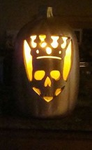 """Pumpkin Plastic Blow Mold Lighted Gold Color Indoor Outdoor 16""""  A - $23.36"""