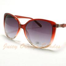 Vintage Cateye Sunglasses Womens Oversize Fashion Eyewear Red - £5.64 GBP