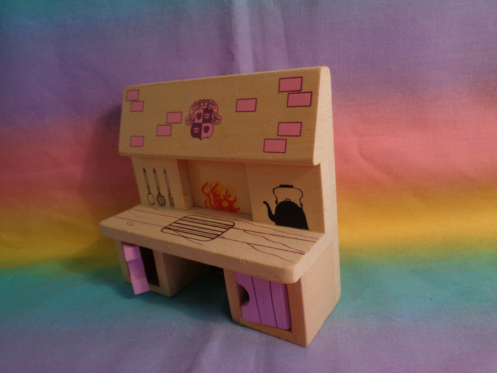 Melissa & Doug Princess Castle Wood Doll Furniture Replacement Kitchen Stove image 3