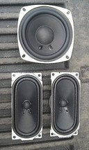 "5RR44 SET OF 3 SPEAKERS FROM GALLEVIA LCD TV: 4"" ROUND, 8 OHM, 20 WATT, ... - $29.55"