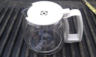 "5RR50 PROCTOR-SILEX COFFEEPOT, 12 CUP, WHITE TRIM, 8"" X 6"" X 5"" +/-, VERY GOOD - $19.66"