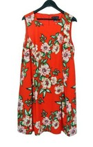 NEW JESSICA HOWARD Pretty Red Floral Swing Dress Cocktail Party 18W - €25,37 EUR