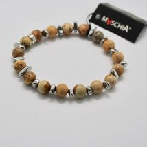 SILVER 925 BRACELET WITH HEMATITE AND JASPER BWI-3 MADE IN ITALY BY MASCHIA image 4