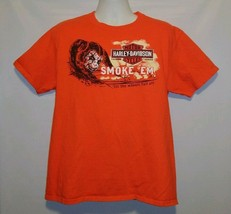 Harley Davidson Motor Cycles Smoke'em Mens T Shirt Large Fort Worth Stoc... - $14.52