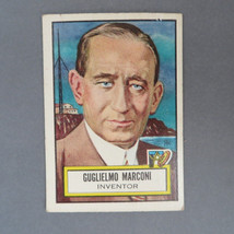 Guglielmo Marconi Collectors Card - 1952 Topps Look 'n See Card, Card No... - $15.00