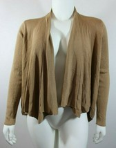 Ann Taylor Womens Cardigan Size XL Brown Shrug Open Drape Front Rib Knit... - $24.74