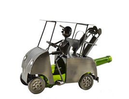 Wine Bodies Golf Cart Wine Bottle Holder Metal Display Home Kitchen Decor - $37.18
