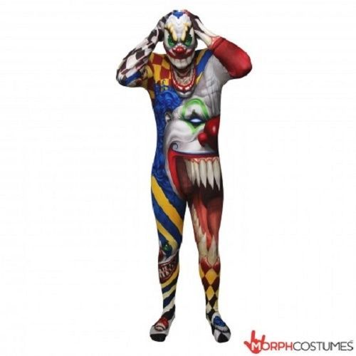 MORPHSUIT SCARY CLOWN MONSTER ADULT BODY SUIT HALLOWEEN DELUXE COSTUME 78-0161