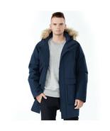 Men's Hooded Insulated Winter Puffer Parka Coat-Navy-XXXL - $172.50