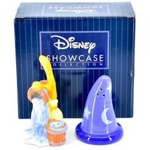 Enesco Disney Showcase Fantasia Sorcerer Hat & Broom Salt Pepper Shakers 6007220 image 1