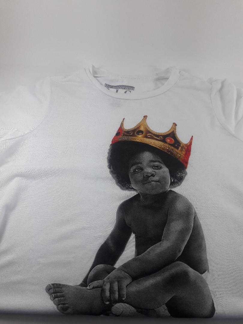 Traffic Juniors' Biggie Baby Graphic T-Shirt White S