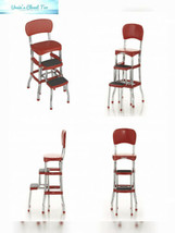 Cosco Retro Counter Chair/Step Stool, Red, 2, Red - $60.64
