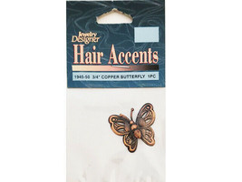 Darice Jewelry Designer Hair Accents Butterfly Charm #1945-50