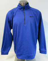 Mens Nike 1/2 Zip Blue Pullover Jacket Size 2XL XXL Polyester Dri Fit 83... - $29.69