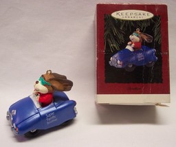 "Hallmark Keepsake ""SUPER TERRIFIC BROTHER"" DOG IN CAR 2"" CHRISTMAS ORNAM... - $14.85"