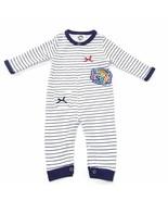 Sweet & Soft Baby Boy  White/Blue Sleepwear Clothes, 3/6 Months, One Piece, New - $25.98