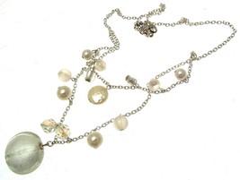Beaded Necklaces Statement Necklaces Cream Necklaces - $18.97