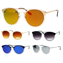 SA106 Unique Metal Half Rim Round Horned Sunglasses - $9.95