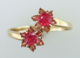 Vintage Antique .60ct Ruby 14K Yellow Gold Victorian Cocktail Ring - $282.15